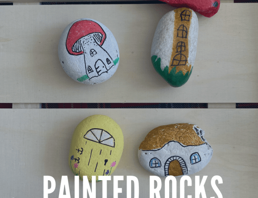 Painted rocks for our fairy garden