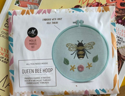 Niamh Wimperis' bee embroidery gift