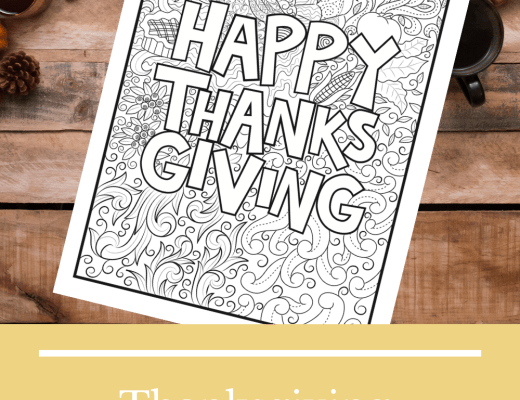 Thanksgiving colouring sheet for adults