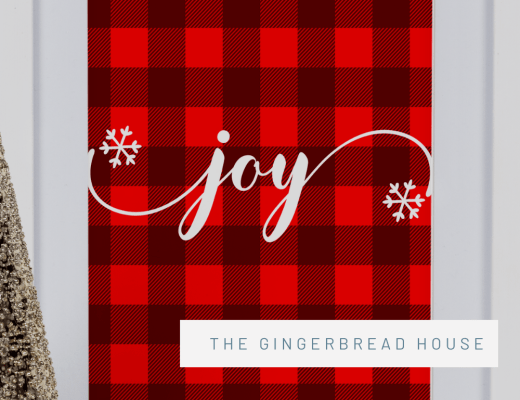 {Free printable} Christmas plaid wall art