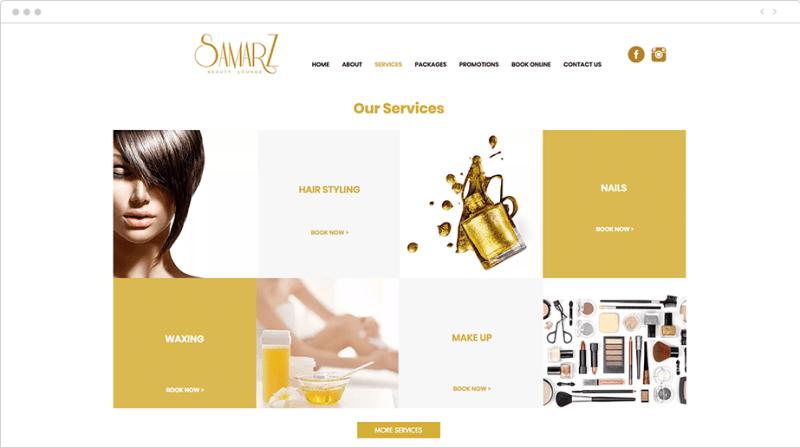 Voorbeeld website van serviceprovider