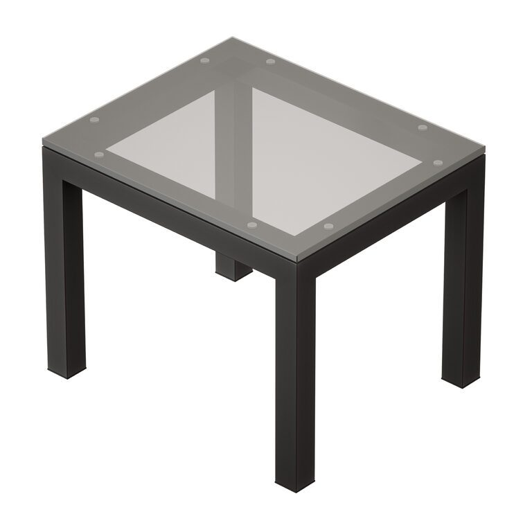 parsons clear glass top dark steel base end table crate and barrel 3d model download 3d model parsons clear glass top dark steel base end table