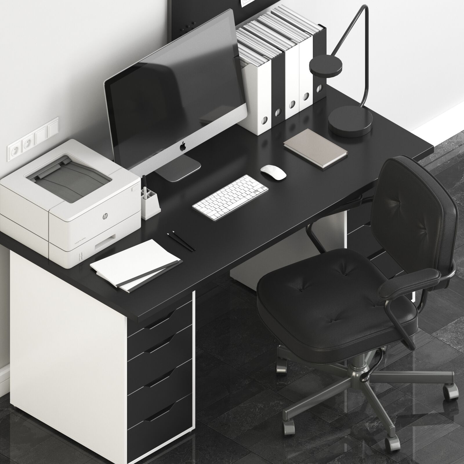 Ikea Office Workplace With Alex Table And Alefjäll Chair 3d Model Download 3d Model Ikea Office Workplace With Alex Table And Alefjäll Chair 18803 3dbaza Com