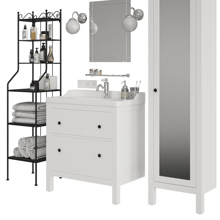 Ikea Hemnes Set Of Bathroom Furniture 3d Model Download 3d Model Ikea Hemnes Set Of Bathroom Furniture 69524 3dbaza Com