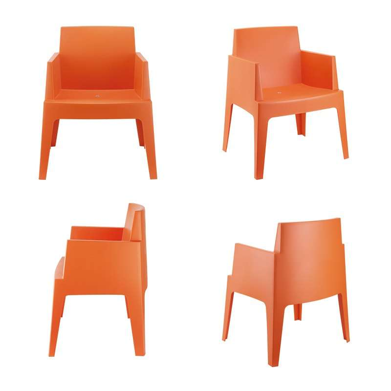 fauteuil de terrasse moderne en polypropylene box