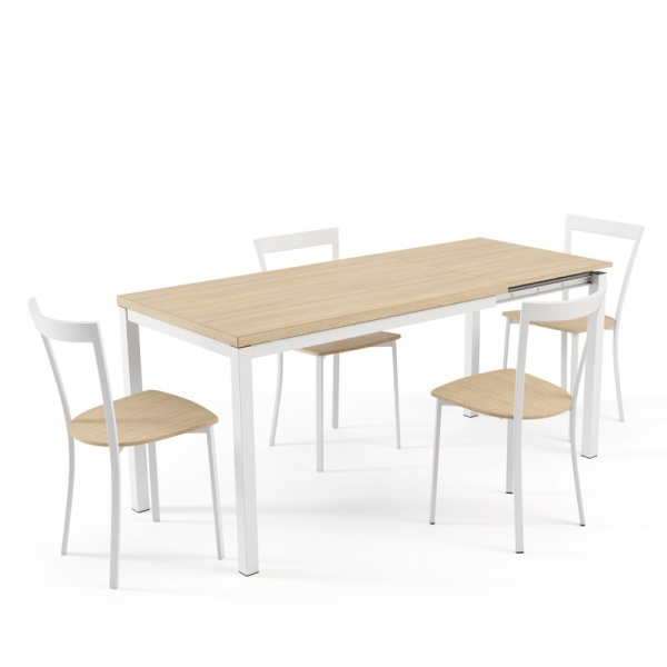 table de cuisine avec rallonge hauteur 75 cm toy metal