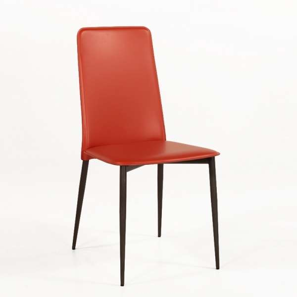 chaise moderne en croute de cuir ely a