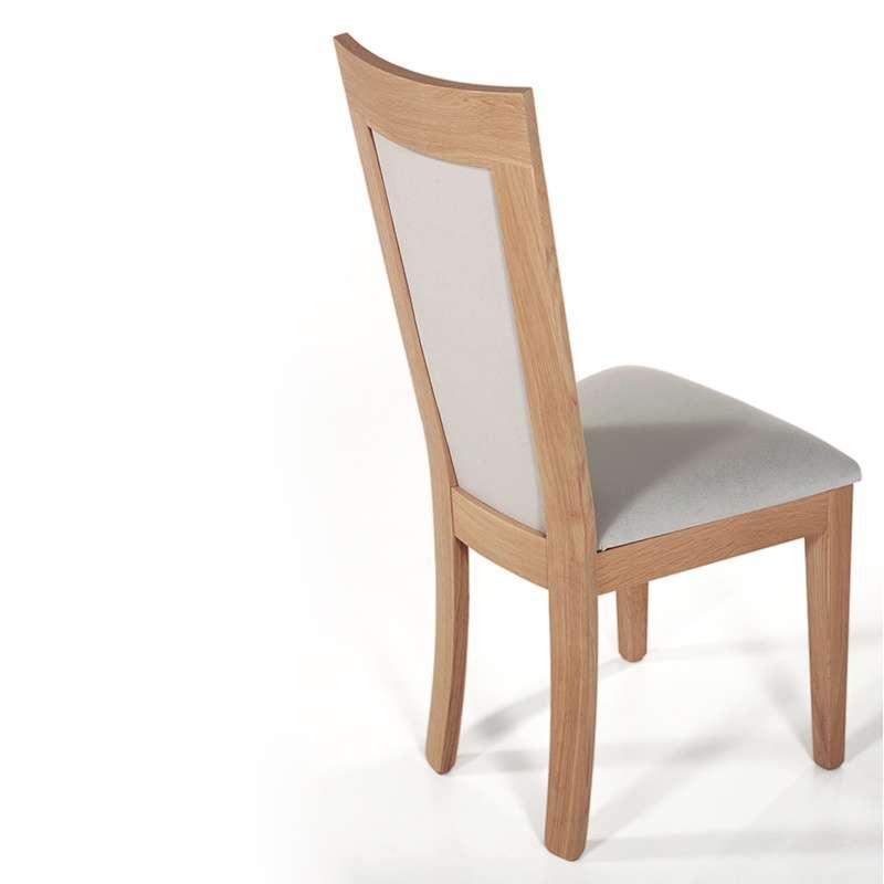 chaise contemporaine bois massif et tissu fabrication francaise crocus 1650