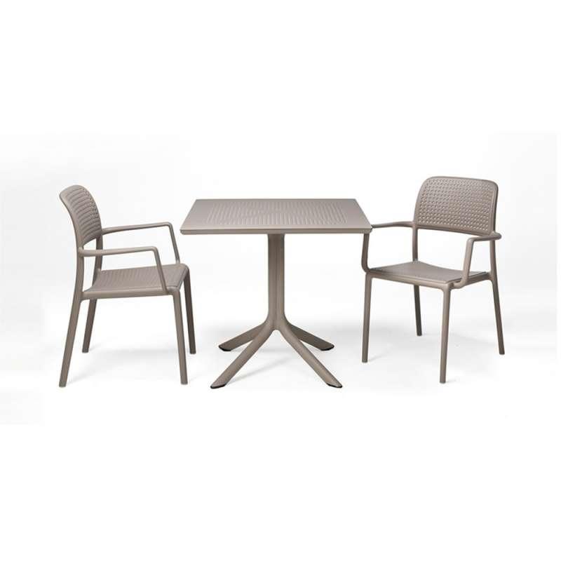petite table de jardin carree en polypropylene clip