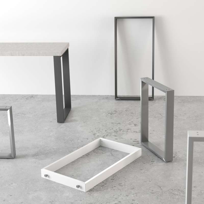 pied de table traineau de cuisine hauteur 73 88 ou 108 cm fix
