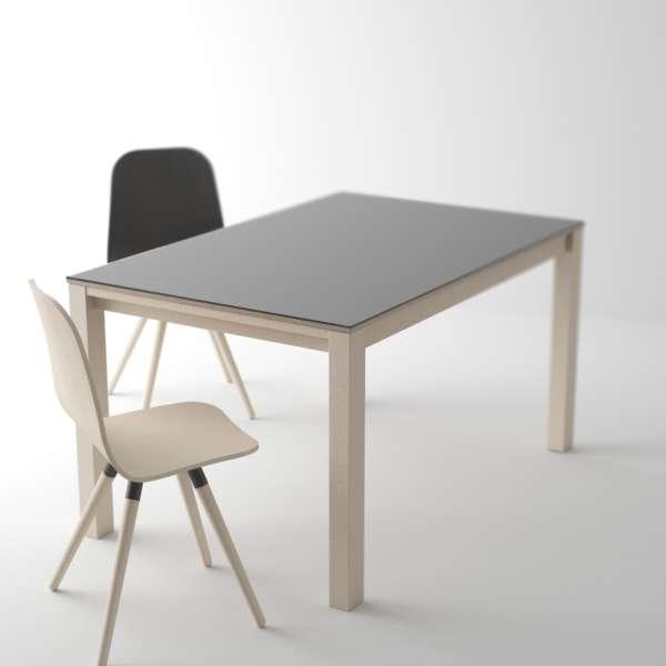 table moderne en verre extensible quadra