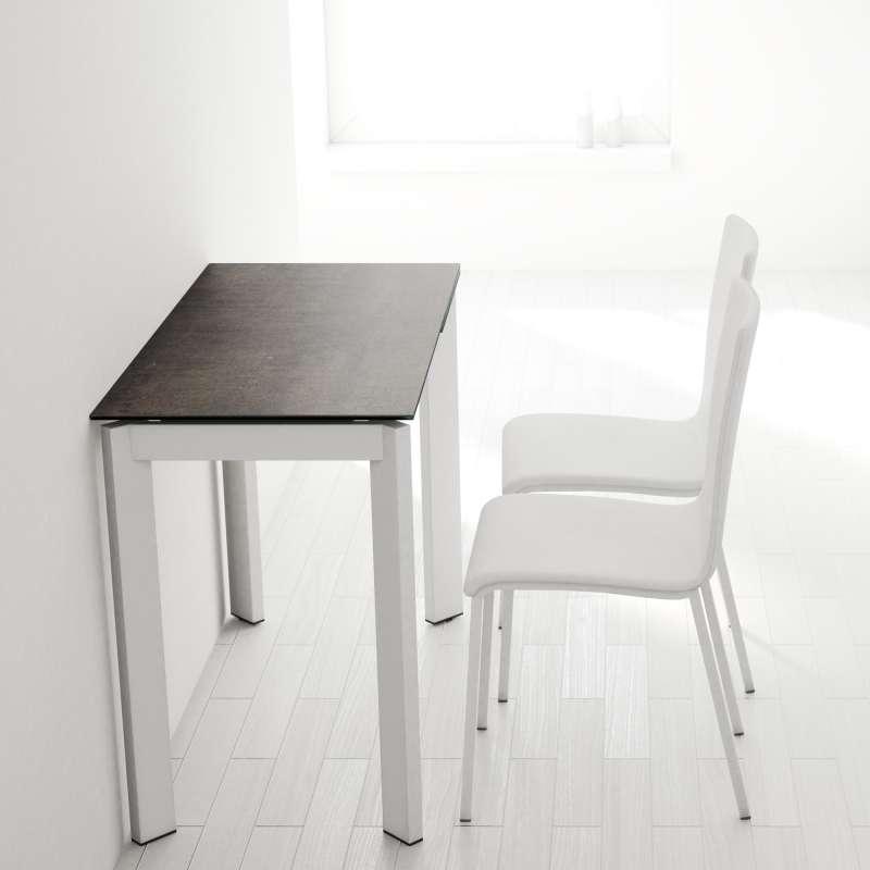 table petit espace extensible en ceramique poker