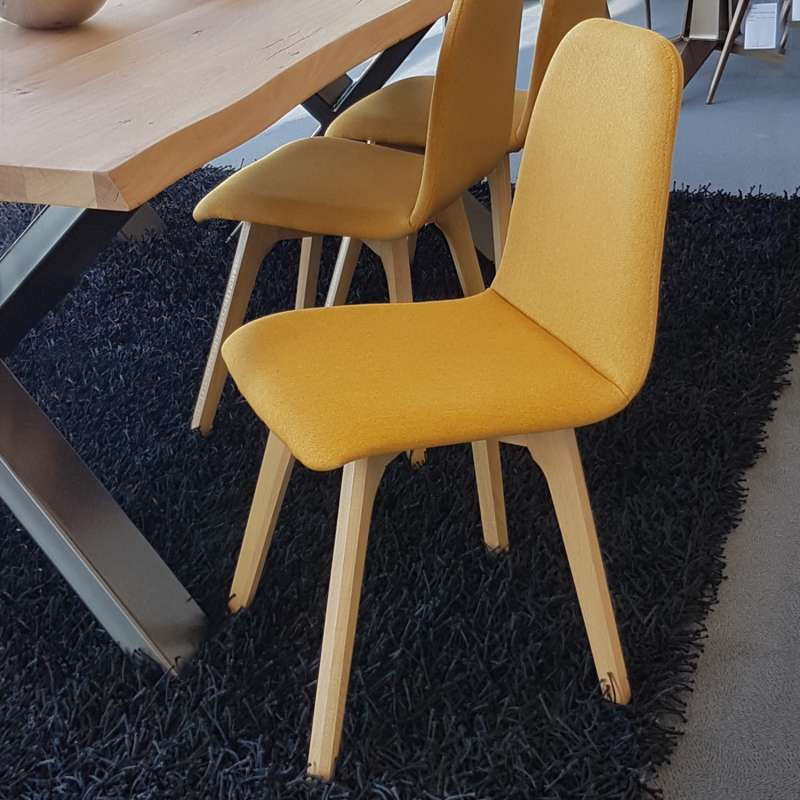 chaise de salle a manger moderne en tissu et bois pandora