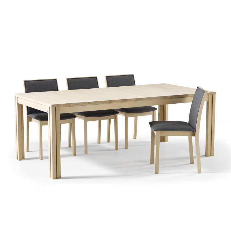 table scandinave rectangulaire en bois avec allonges sm23 24