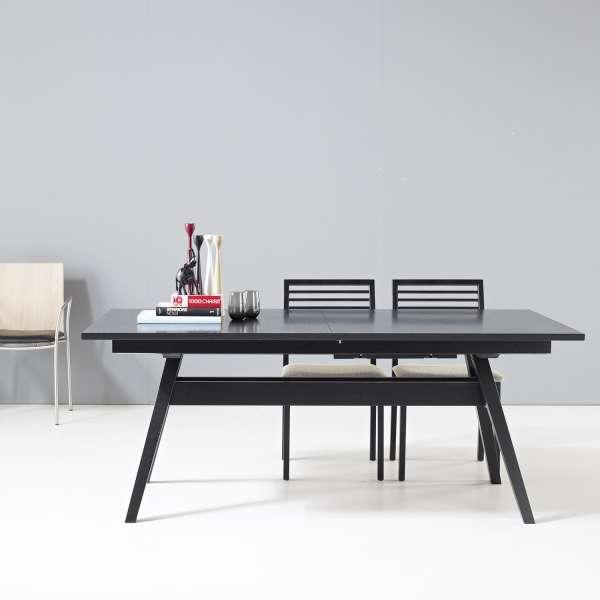table de sejour scandinave extensible en bois sm11