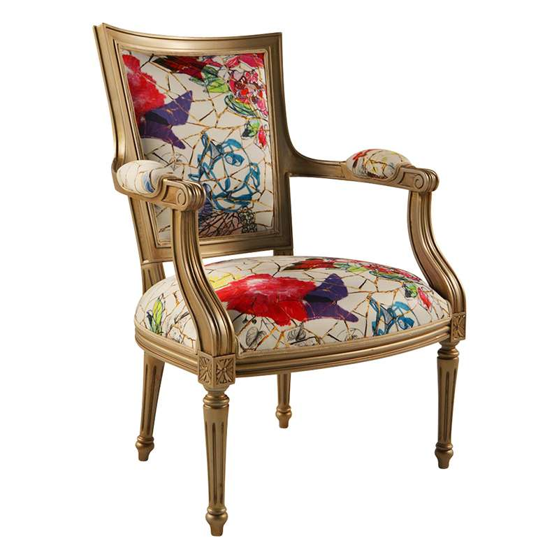 fauteuil cabriolet louis 16 fabrication francaise en tissu et bois massif quentin