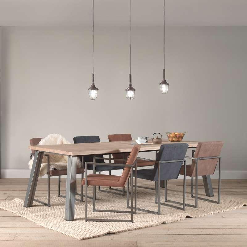 fauteuil moderne en tissu et metal style industriel howard