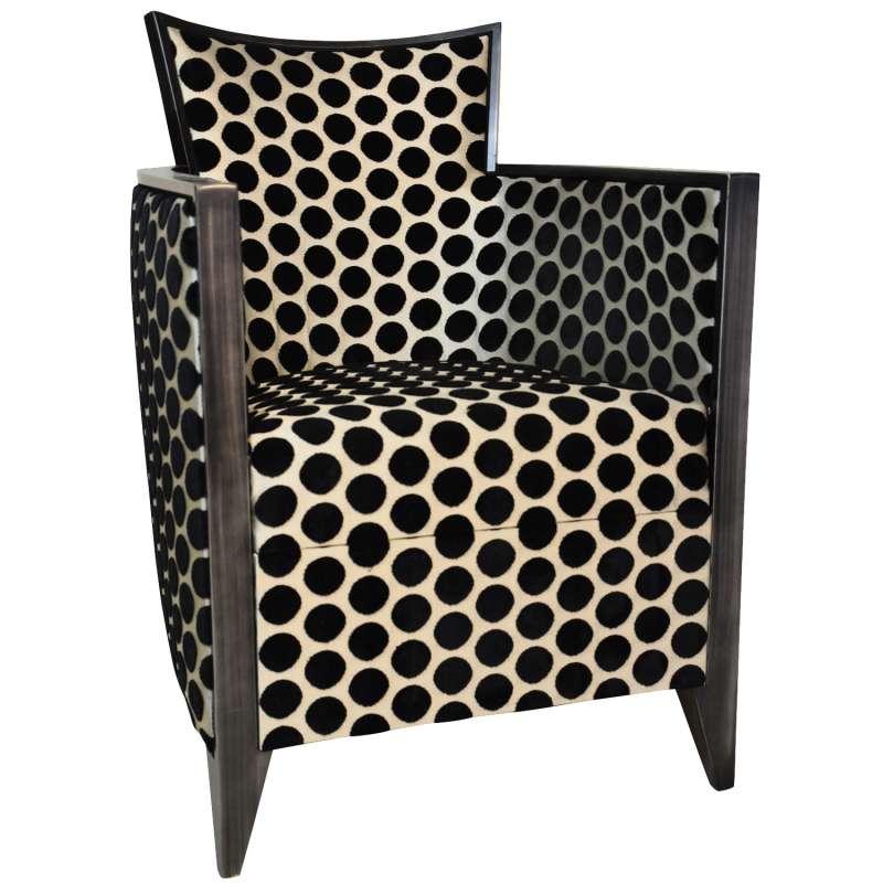 fauteuil art deco fabrique en france en tissu et bois massif nathan