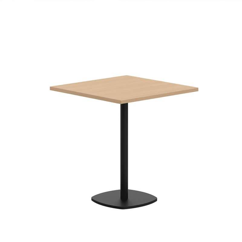 petite table de cuisine carree en stratifie avec pied central circa