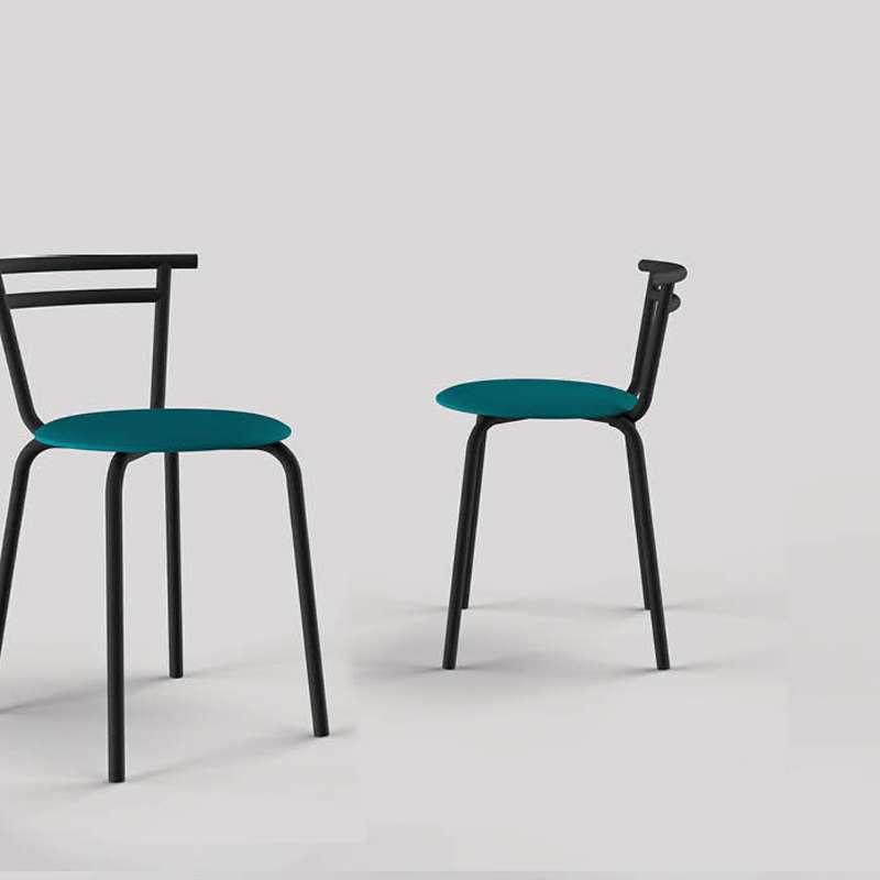 chaise de cuisine fabriquee en france assise ronde structure metal xelus carrier