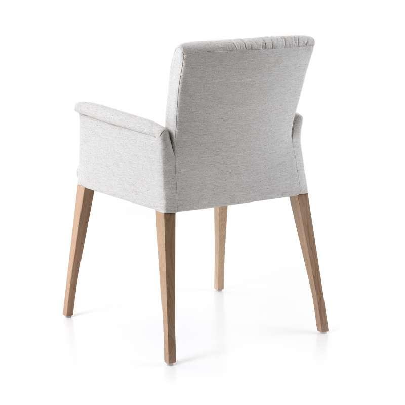 fauteuil cocooning en tissu plisse avec pieds en bois pure comfort mobitec