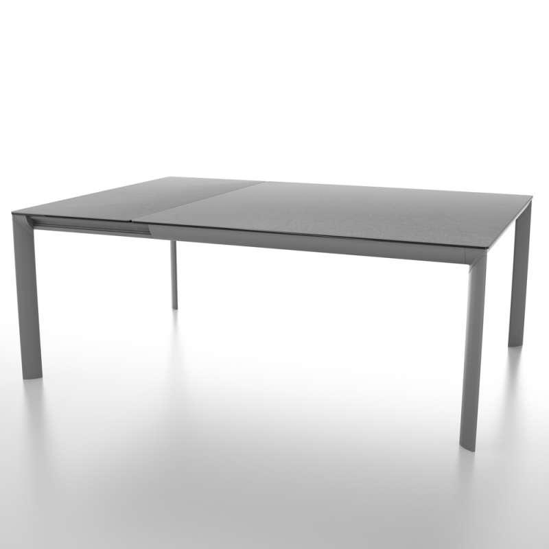 table carree extensible en ceramique et pieds en metal cocoon