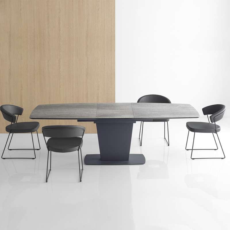 table de salle a manger rectangulaire extensible en ceramique athos connubia