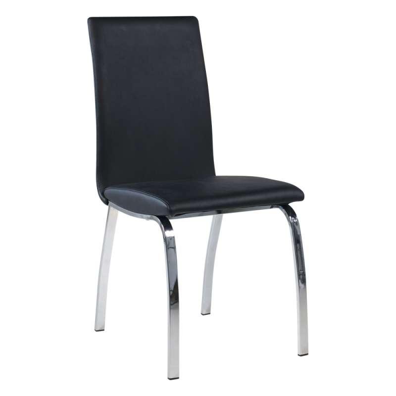 chaise de salle a manger rembourree avec pieds en metal dara