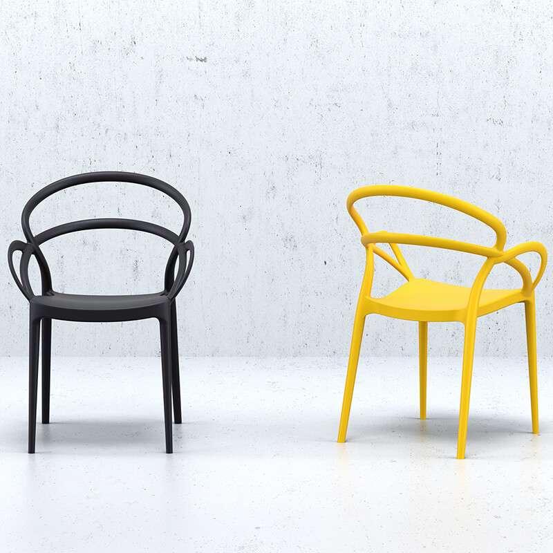 fauteuil design en polypropylene mila