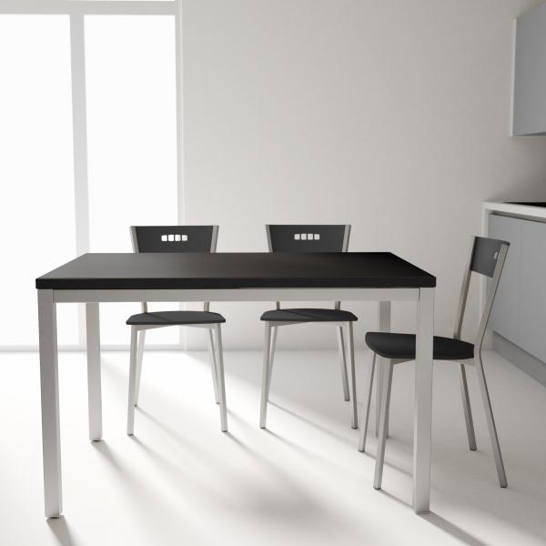 table de cuisine en ceramique avec rallonge hauteur 75 cm toy metal