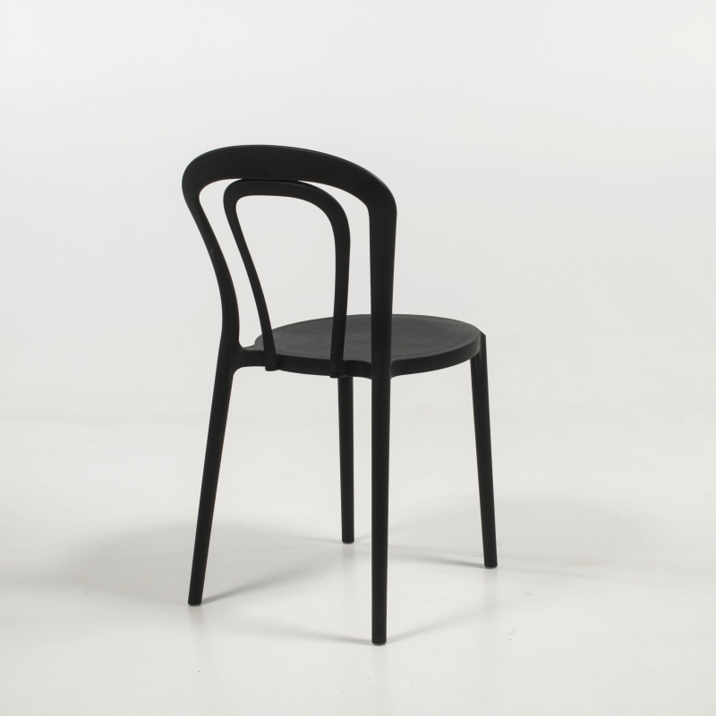 chaise bistrot de jardin en polypropylene caffe connubia