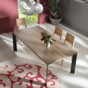 table contemporaine bois et metal