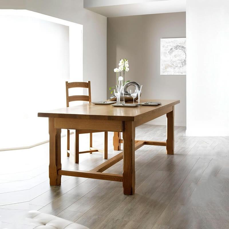 table de ferme extensible fabrication francaise en bois massif ferme
