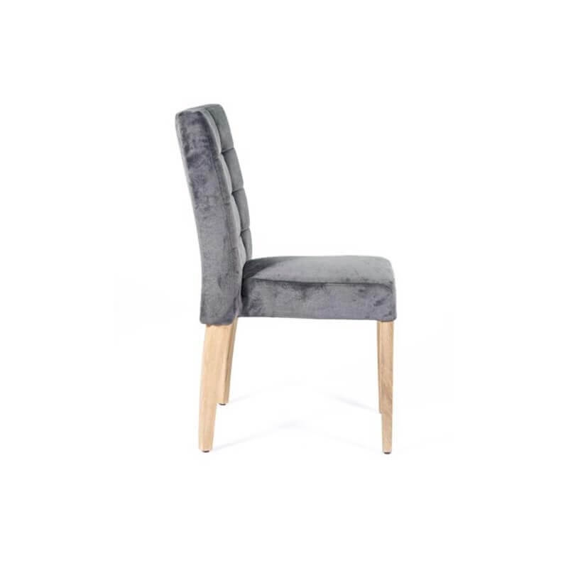 chaise empilable confortable de salle a manger en tissu matias 2 stack