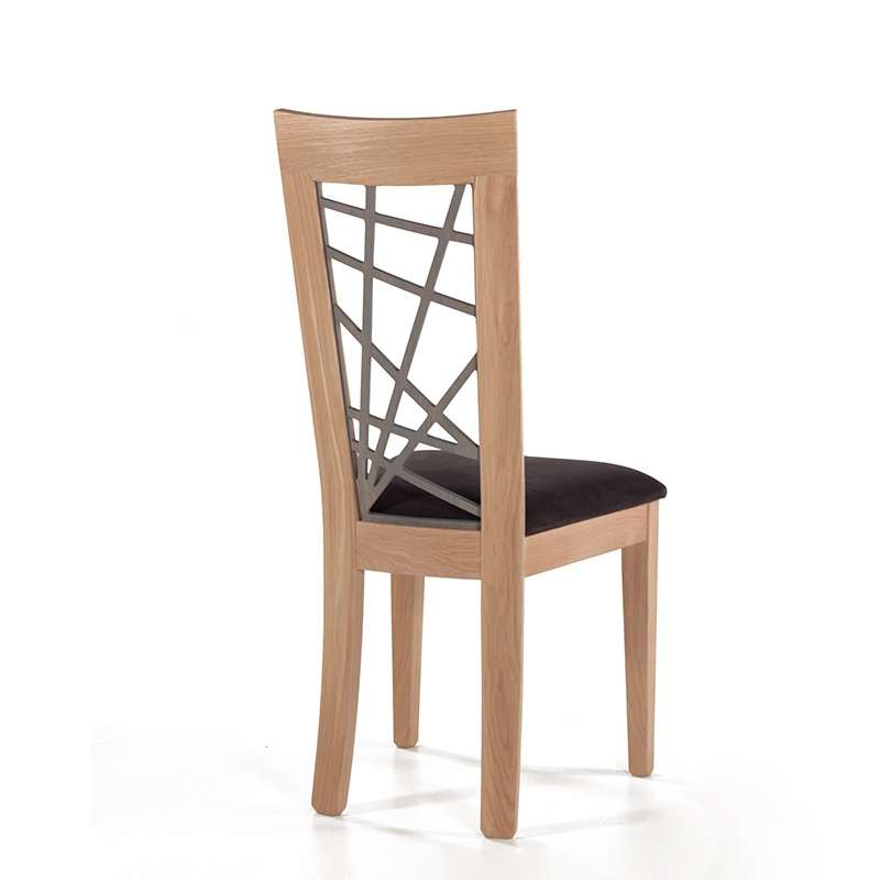 chaise en chene massif contemporaine francaise assise tissu crocus 1653