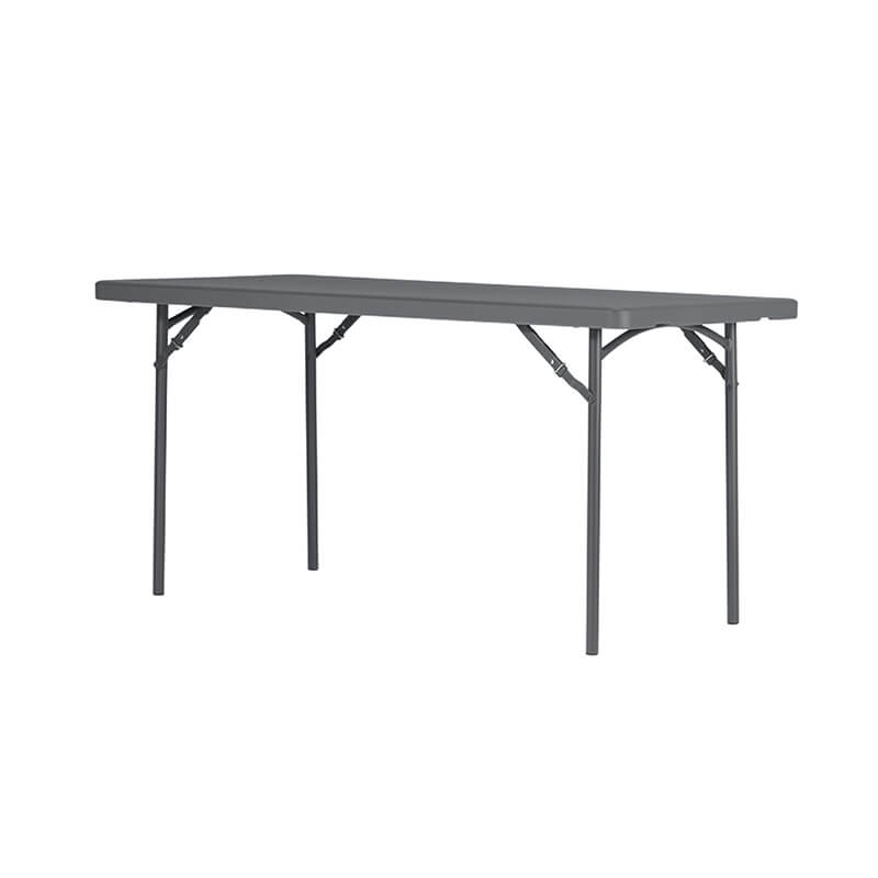 table pliante en polyethylene et metal gris fonce xl
