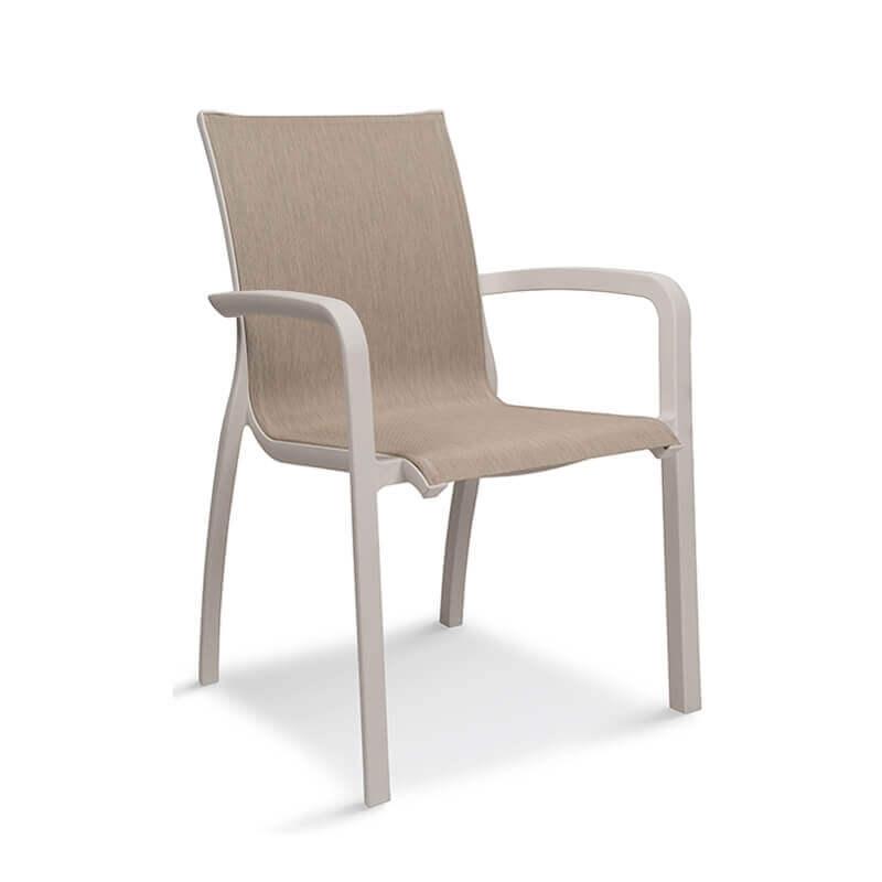 fauteuil de jardin empilable en toile made in france sunset grosfillex