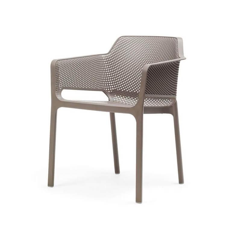 fauteuil de terrasse moderne en polypropylene net