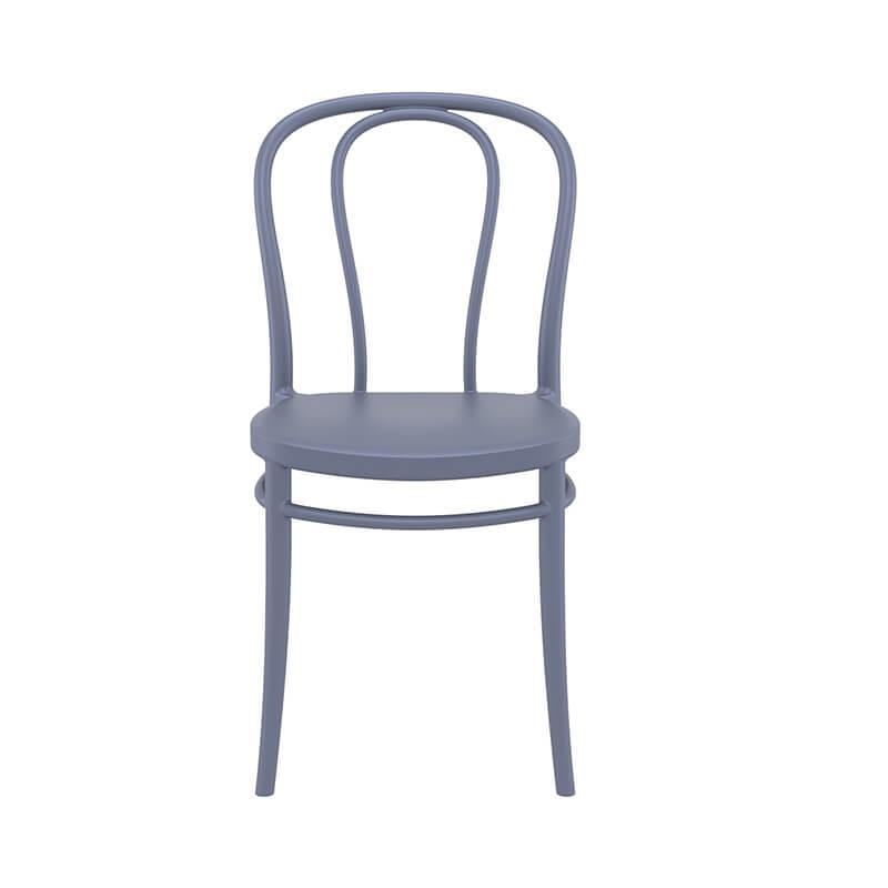 chaise de jardin bistrot empilable en polypropylene victor