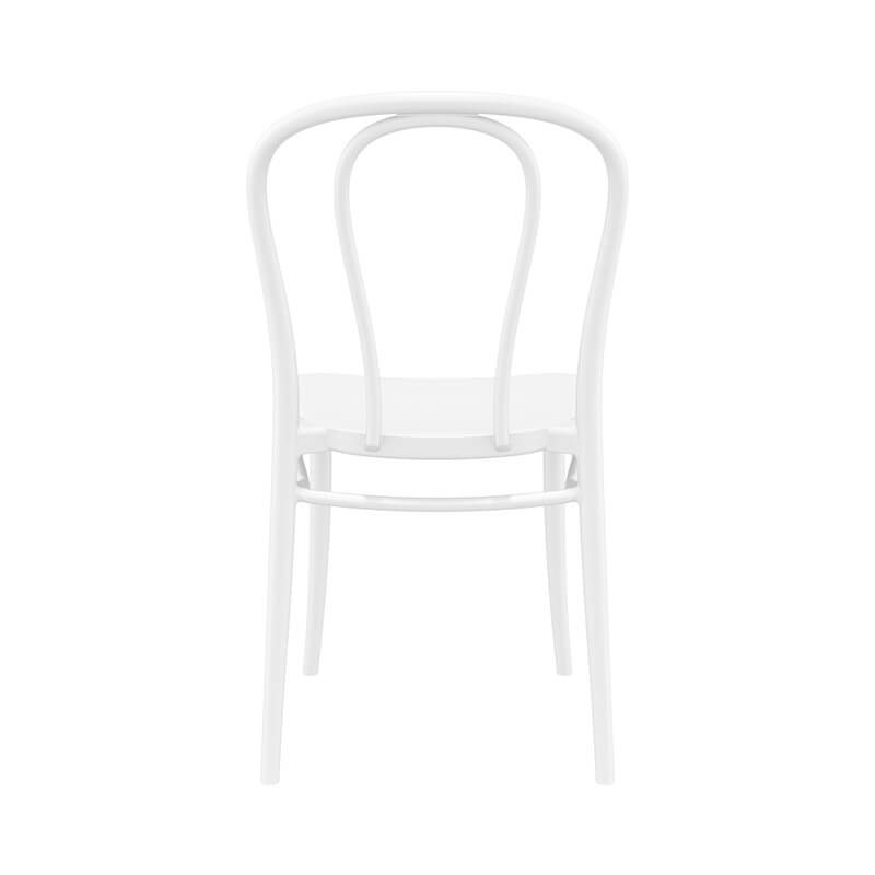 chaise bistrot en polypropylene empilable victor