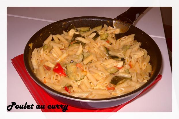 Recette  Poulet au curry et au lait de coco  750g