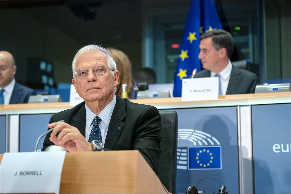 Josep Borrell, during his hearing for the position of the High Representative of the Union for Foreign Affairs and Security Policy of the European Union, October 7, 2019. (European Parliament)