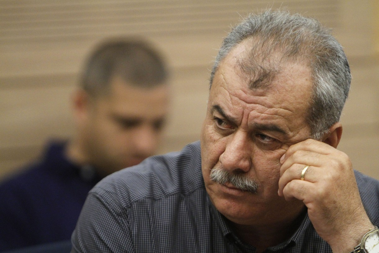 Mohammad Barakeh, head of the High Follow-Up Committee, at the Knesset on May 14, 2012. (Miriam Alster/Flash90)