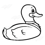 abeka clip art swimming duck