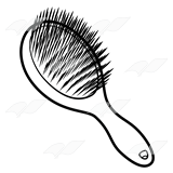 abeka clip art purple hairbrush