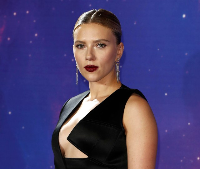Scarlett Johansson Wows In Sexy Black Widow Inspired Look At