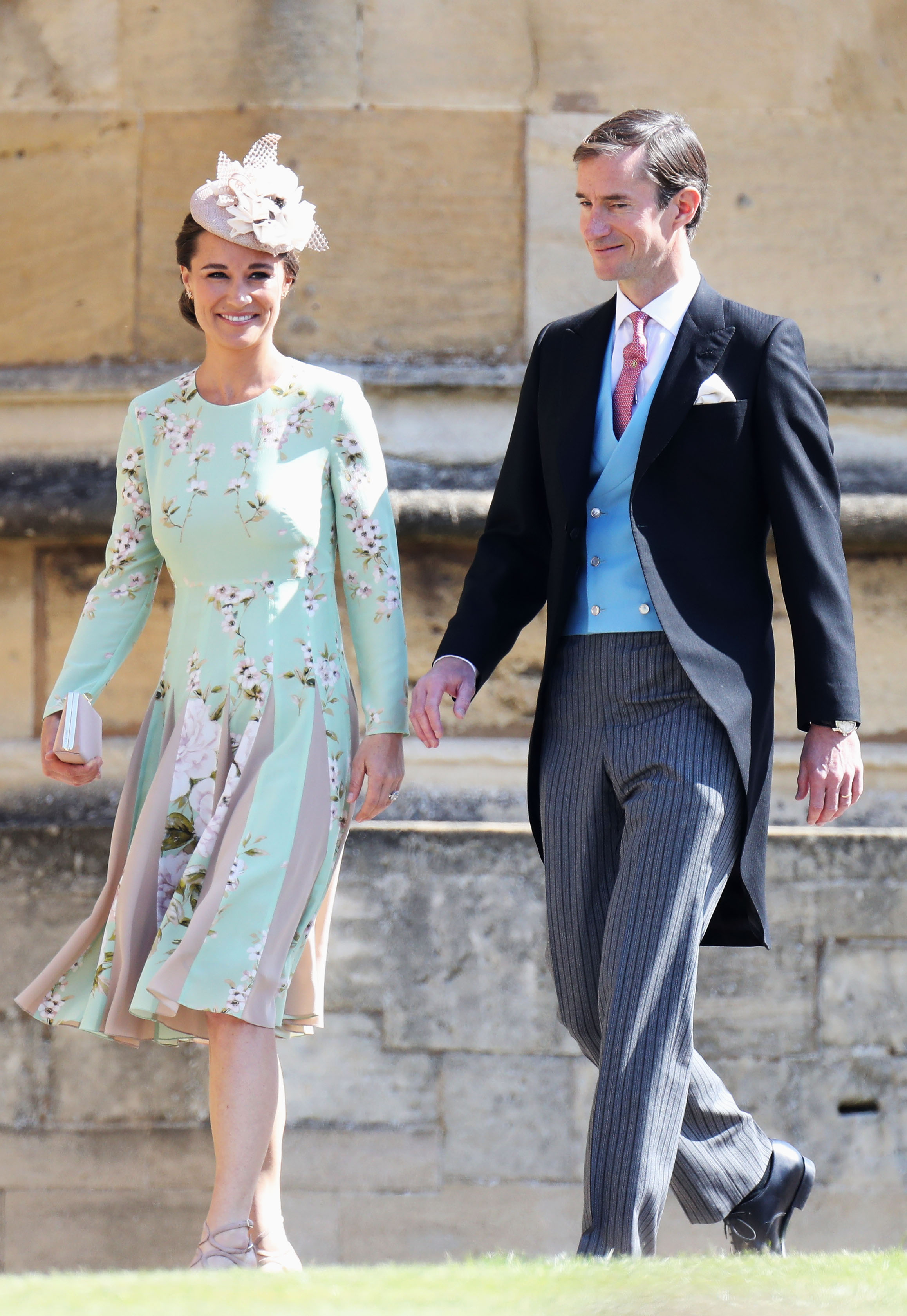 Pippa Middleton Dazzles In Mint Green Floral Dress At