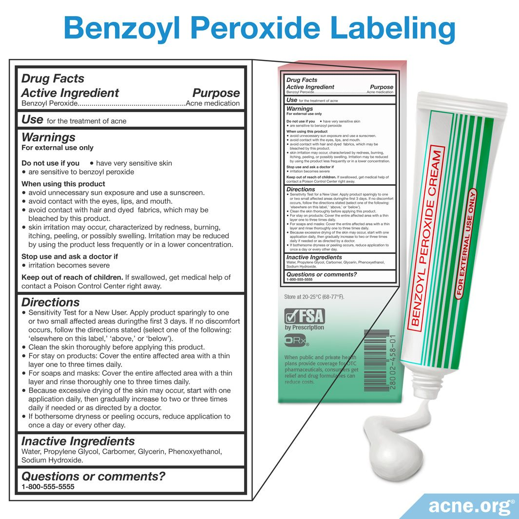 Is Benzoyl Peroxide Safe? - Acne.org