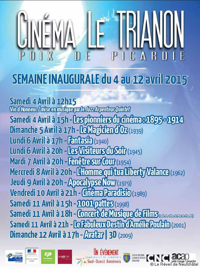 Les Plus Grands Films De L'histoire : grands, films, l'histoire, Grands, Films, L'histoire, Cinéma, Avril, Trianon, Réveil, Neufchâtel
