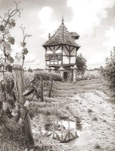 Le pigeonnier de Calignac croqué par Paul Madonna